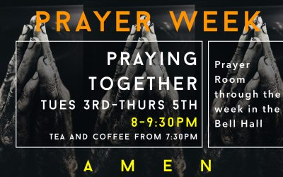 Prayer Week- Praying Together/3-5th September 8:00-9:30pm